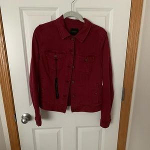 NWT Wine colored Liverpool Jean jacket